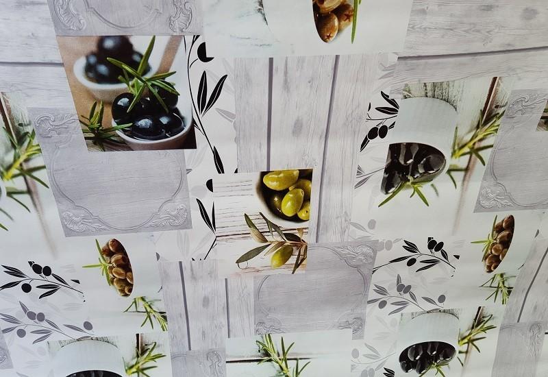 nappe bulgomme fonds gris avec provence olives noires vertes. Black Bedroom Furniture Sets. Home Design Ideas
