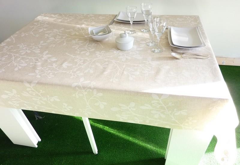 nappe enduite blanche table de cuisine. Black Bedroom Furniture Sets. Home Design Ideas