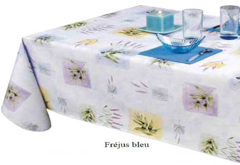 Toile ciree table ronde metz for Nappe pour table ovale