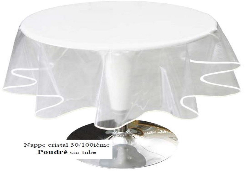 nappe ronde transparente diametre 160 table de lit. Black Bedroom Furniture Sets. Home Design Ideas