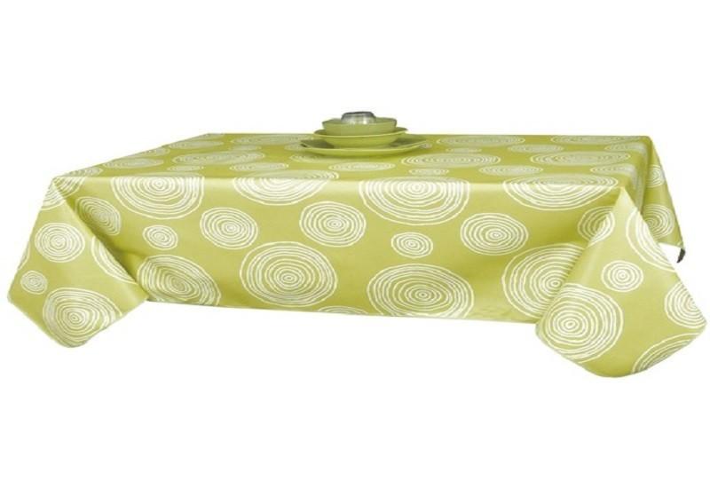 nappe grande largeur en toile cir 233 e vert anis 180cm de large