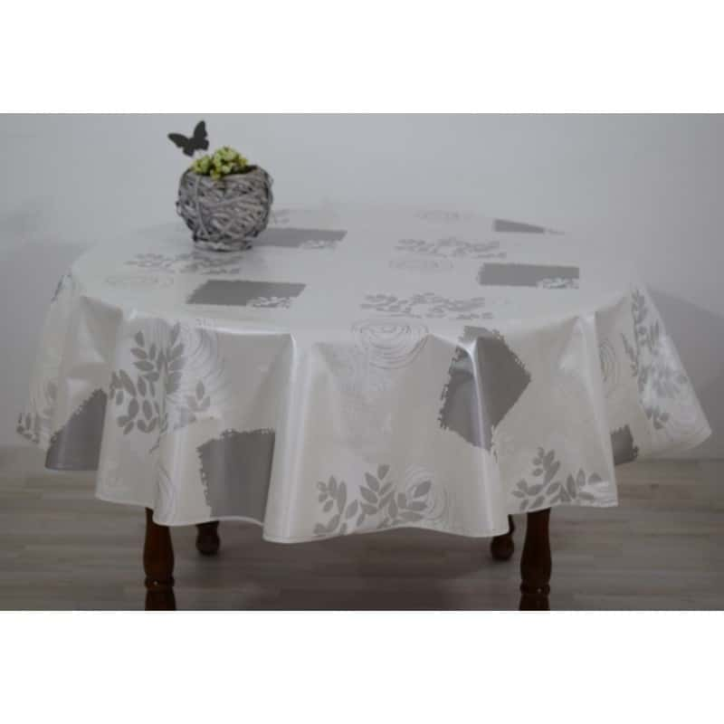 nappe ronde toile cire 160 toile cire nappe plastifie becquet destin table salle a manger avec. Black Bedroom Furniture Sets. Home Design Ideas