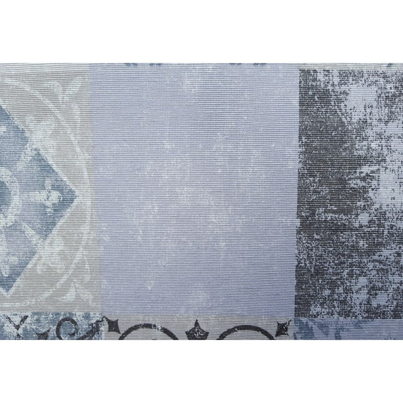Nappe en coton enduit de qualit antitache carreaux ciment bleu gris - Nappe carreaux de ciment ...