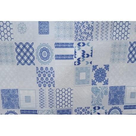 carreaux de ciment bleu top nappe enduite tissu enduit. Black Bedroom Furniture Sets. Home Design Ideas