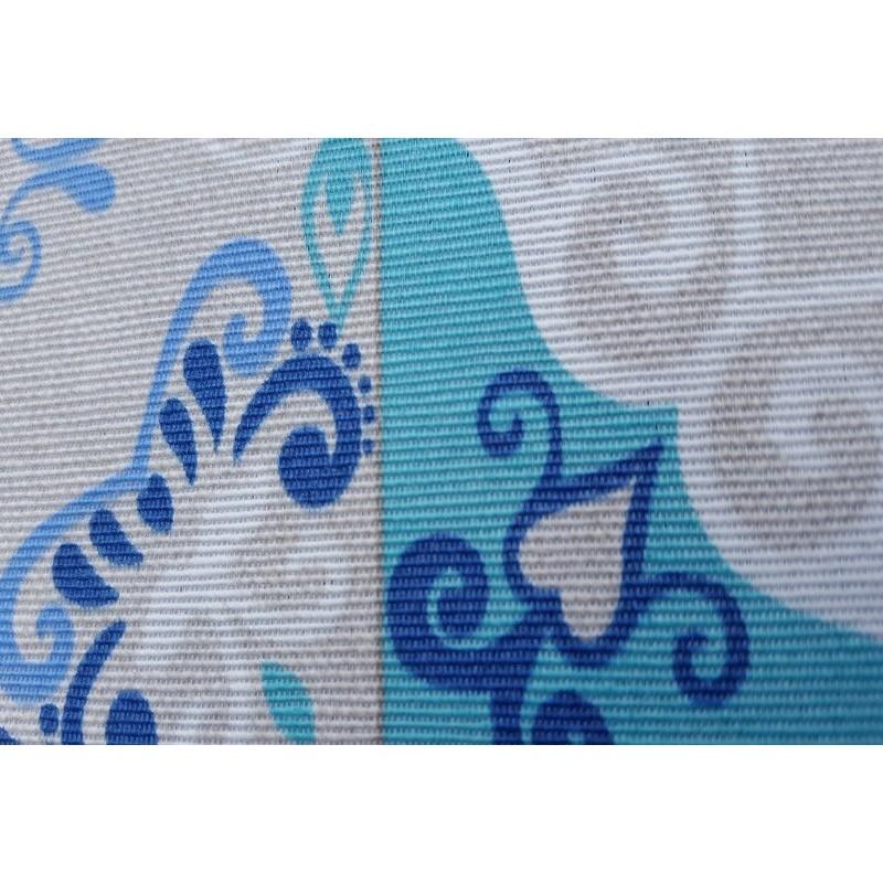 nappe en coton enduit de qualit antitache carreaux ciment bleu vif. Black Bedroom Furniture Sets. Home Design Ideas