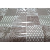 NAPPE TOILE CIREE BOUCONNE ECRU LAQUEE RONDE OVALE RECTANGLE CARREE