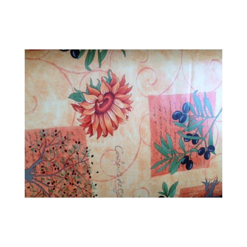 prot ge table de qualit au motif de provence couleur ocre anti t che. Black Bedroom Furniture Sets. Home Design Ideas
