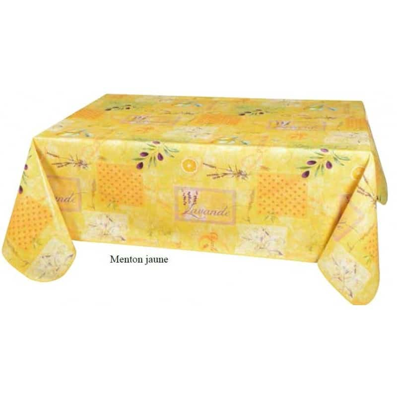 nappe toile cir e jaune th me de la provence de qualit et anti t che. Black Bedroom Furniture Sets. Home Design Ideas