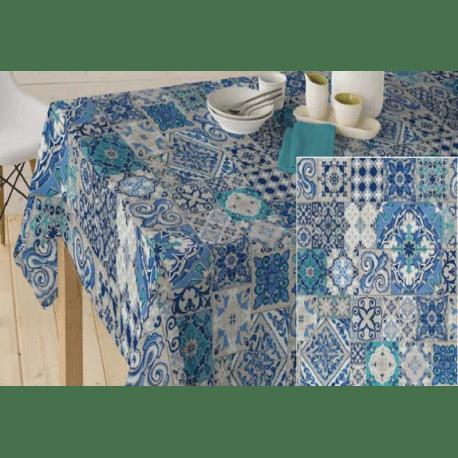 nappe en coton enduit de qualit antitache carreaux ciment. Black Bedroom Furniture Sets. Home Design Ideas