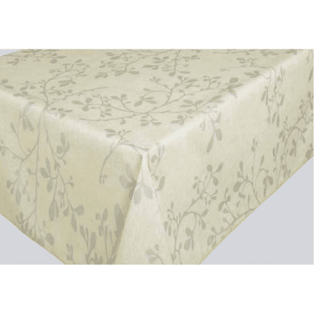 nappe enduite coton enduit FEUILLE ARGENT sur mesure