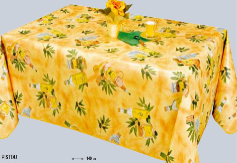 Nappe Provence 180 cm ROND JAUNE de France facile à nettoyer et disponible