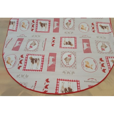 ART2LATABLE NAPPE OVALE 150 X 230 EN TOILE CIREE SIDONIE