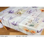 NAPPE EN TOILE CIREE LAVANDE PROVENCAL ARLES CARREE OVALE RECTANGLE RONDE