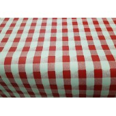 NAPPE 160 CM DE LARGE EN TOILE CIREE VICHY ROUGE RONDE OVALE RECTANGLE CARRE