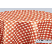 nappe ronde vichy rouge 150
