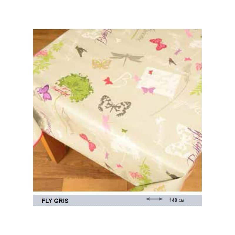 prot ge table de qualit avec des papillons sur fond gris anti t che. Black Bedroom Furniture Sets. Home Design Ideas