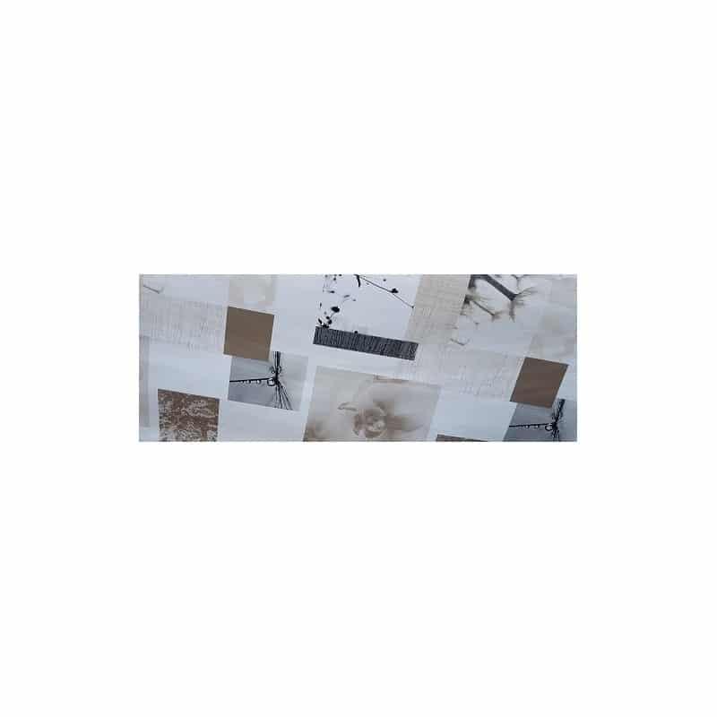 nappe en toile cir e ronde blanc avec motifs de fleurs beige et taupe. Black Bedroom Furniture Sets. Home Design Ideas