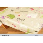 NAPPE PROTEGE TABLE PAPILLON GRIS ROND CARREE RECTANGLE OVALE