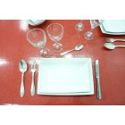 NAPPE EN PROTEGE TABLE 140 CM PAILLETTE ROUGE
