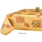 NAPPE PROTEGE TABLE BULGOMME SOLEIL OCRE RONDE OVALE RECTANGLE CARRE