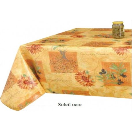 NAPPE PROTEGE TABLE SOLEIL OCRE RONDE CARREE RECTANGLE OVALE RONDE