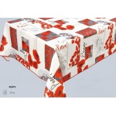 NAPPE PROTEGE TABLE  POPPY COQUELICOT RONDE CARREE RECTANGLE OVALE