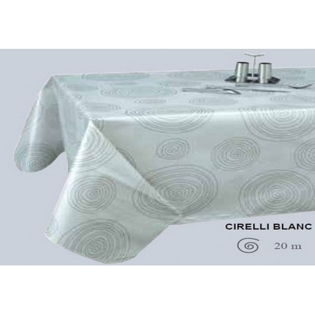 NAPPE TOILE CIREE CIRELLI BLANC RONDE OVALE RECTANGLE CARRE