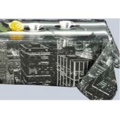 NAPPE TOILE CIREE NEW YORK TOWN GRIS RONDE OVALE CARREE RECTANGE