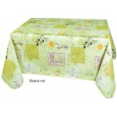 NAPPE TOILE CIREE MENTON VERT PROVENCA RONDE OVALE RECTANGLE CARREE