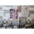 NAPPE EN TOILE CIREE 140 YDRA TAUPE LILAS