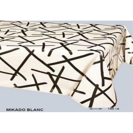 toile cir e blanche avec des trait noir mikado anti t che. Black Bedroom Furniture Sets. Home Design Ideas
