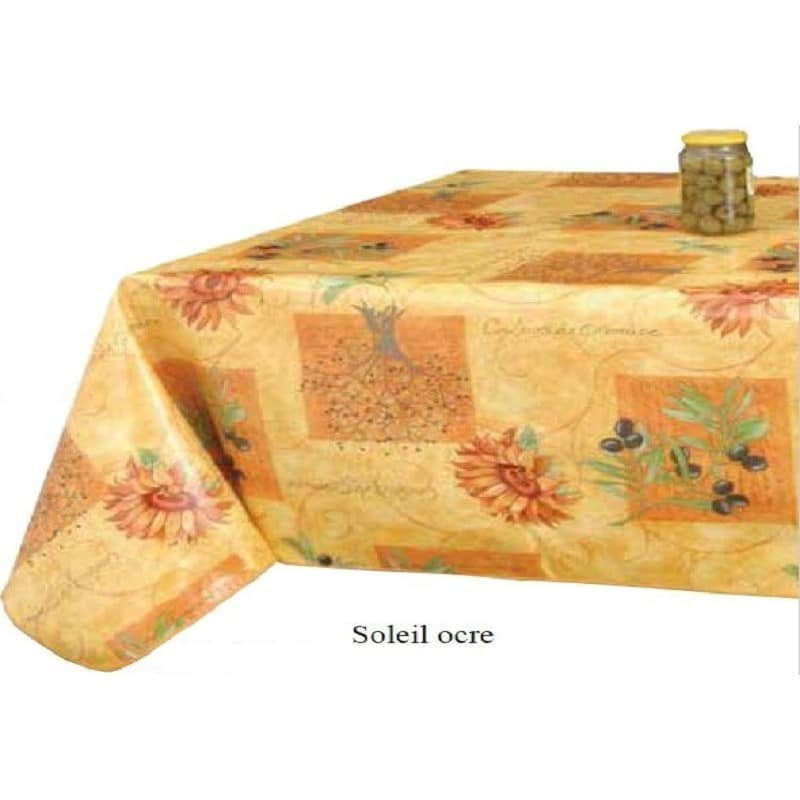 nappe l 39 incontournable motif provencal couleur orange 160 cm de large. Black Bedroom Furniture Sets. Home Design Ideas
