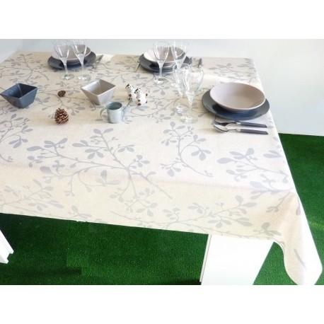 nappes en coton enduit nappe x cm coton enduit glires deux coloris with nappes en coton enduit. Black Bedroom Furniture Sets. Home Design Ideas