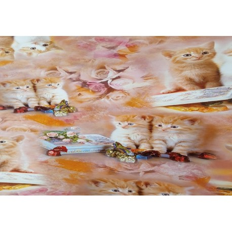 NAPPE EN TOILE CIREE LES CHATS CARRE OVALE RETANGLE RONDE
