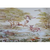 NAPPE NE TOILE CIREE SUR LA CHASSE RONDE OVALE CARREE RECTANGLE