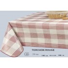 NAPPE EN 160 CM DE LARGE TORCHON CARREAUX ROUGE