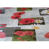 NAPPE EN TOILE CIREE PAPAYER EN 140 CM DE LARGE TOMATE RONDE OVALE RECTANGLE CARREE