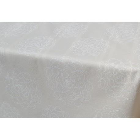 rouleau de nappe en coton enduit de qualit anti t che bella ecru. Black Bedroom Furniture Sets. Home Design Ideas