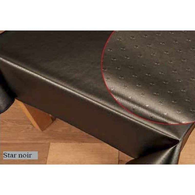 rouleau de 20 m tres de nappe en toile cir e noir avec des toiles. Black Bedroom Furniture Sets. Home Design Ideas