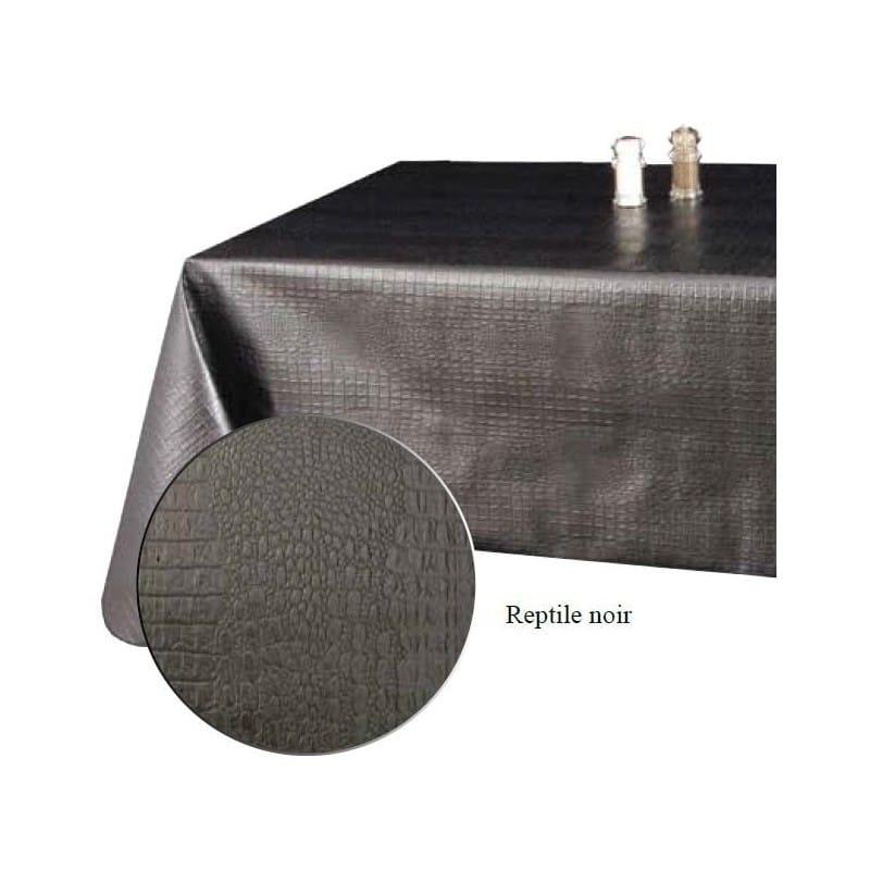 rouleau de 20 m tres nappe de qualit texture reptile noir. Black Bedroom Furniture Sets. Home Design Ideas
