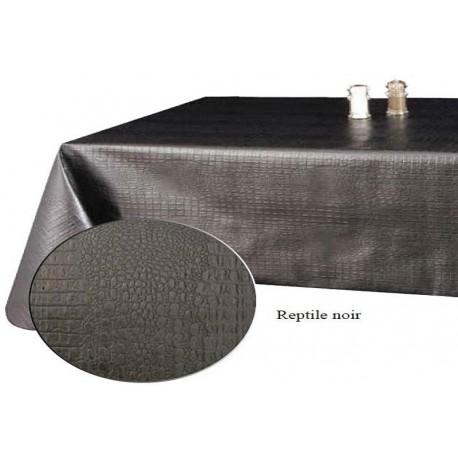 rouleau de 20 m tres nappe de qualit texture reptile noir moderne. Black Bedroom Furniture Sets. Home Design Ideas