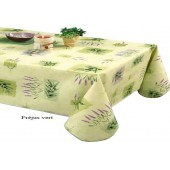 NAPPE EN TOILE CIREE frejus vert 180 cm GRANDE LARGEUR RONDE OVALE CARRE RECTANGLE  PROVENCAL