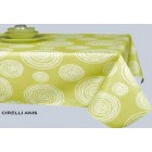 NAPPE grande largeur 180 cm en toile cirée cirelli anis RONDE OVALE RECTANGLE CARREE